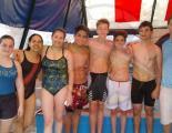 Competidores del acuatlón que se disputó en sub 14 y 16 en Regatas