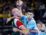 Zsolt Balogh de Hungría y Nicolas Bonanno de Argentina en acción.