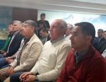 Sergio Cardozo y Jorge González en la Casa de Chubut en Bs. As.