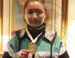 Daiana Lovera Morales obtuvo el oro en salto en largo sub 18 intelectual.