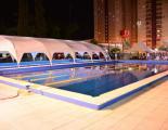 Espectacular imagen de los natatorios de Sarmiento