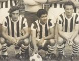 Rubén Scordo, en la foto con Carlos Sandoval y Carlos Ebel en un equipo del 73