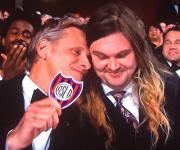 Viggo junto a su hijo en la entrega de los Oscar