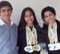 La familia Acosta, con Carlos, Milagros y Ailén, promueven un gran festival de TKD.