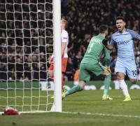 Sergio Aguero, mostró su contundencia frente a Everton.