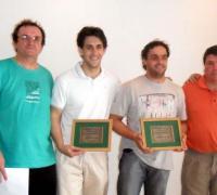 Juan Carlos Tossutti, Pte. Fed. Chaqueña de Ajedrez, Alessandro Manzone, Fabricio Añazco y Fabián Landriel.