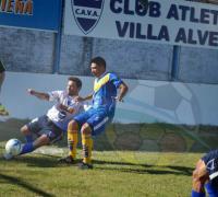 Escena del partido que Villa Alvear le ganó a Don Orione 3 a 1