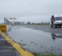 Autódromo con mucha agua. Foto archivo