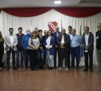 La nueva comisión directiva de Regatas encabezada por Leandro ESchoyez