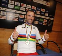 Feliz Alejandro Valverde campeón del mundo