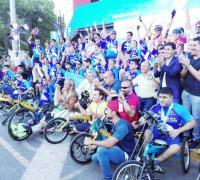 El ciclismo adaptado también idjo presente en San Juan