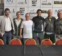 Los directores del Programa Tenis Federal que visitan la capital chaqueña.
