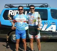 Los pedalistas Sergio Chucoff y CArlos Di Nucci se destacaron en tierra guaraní.