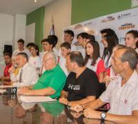 Lanzamiento en Lotería del torneo internacional de natación