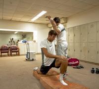 Desahogo de Juan Martìn tras vencer a Federer.