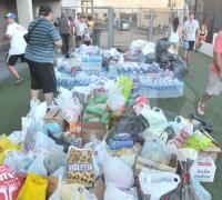 Las donaciones hechas por los espectadores que se acercaron hasta Chaco For Ever.