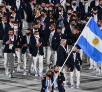 Desfile argentino en la inauguración de los JJ.OO.