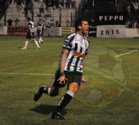 Aldo Visconti, la figura que tuvieron los  los albinegros con la marcación de tres goles.