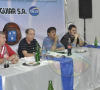 Los dirigentes del baloncesto analizaron diferentes iniciativas con Gustavo Martínez.