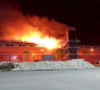 Tremendo incendio en Termas