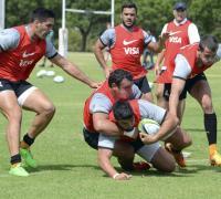 Los Jaguares en el último entrenamiento antes de enfrentar a los sudafricanos.
