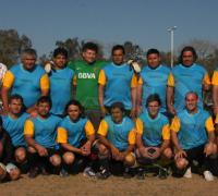 Los jugadores de Amigos Fútbol Club que vencieron a Atlético La Amistad 3 a 0 en junior C.