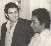 Julio Kodama a la derecha, junto a Paponi Aguirre (foto archivo)