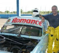 Luis Escobar  de Saladas es  siempre protagonista entre los Fiat 128 con un auto preparado por Oscar Páramo.