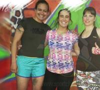 Noelia Castilla, Patricia Grassi y Giuliana Lentati