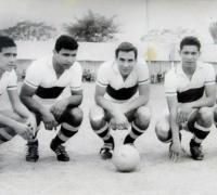 Inolvidable delantero de Central Norte: Miguel Meza, Juan CarlosRodríguez, Omar Silvestre, Victor Rodríguez y Ramón Duarte
