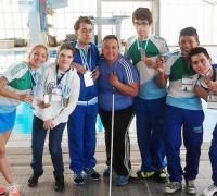 Participantes de la natación adaptada en el mrco de los JuegosEvita