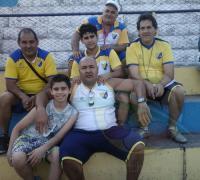 La dupla Miguel Duarte y Fernando Mejias,  junto a  los profesores Victor Lovato y José González y el ex árbitro Carlos Zalazar.