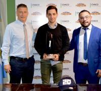 Oscar Brugnoli y Pablo Espinosa junto a Mauro Passarino