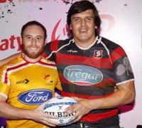 Juan Peirano y Federico Bambula, dos jugadores claves de la Unión de Rugby del Nordeste,