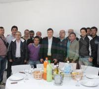 Los dirigentes de los clubes que se reunieron con Domingo Peppo.