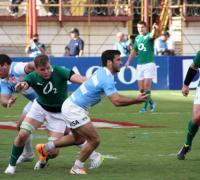 Imagen de Los Pumas vs. Irlanda en la cancha de Sarmiento