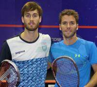 Leandro Romiglio y Gonzalo Miranda fueron protagonistas del duelo argentino.