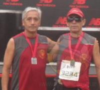 Candia y Rolón con podio en la media maratón.