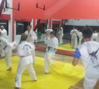Las clases de TKD en Atenea Gym  los martes, jueves y viernes de 21.30 a 22.30.