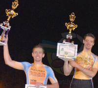 Marcelo segundo y Germán primero, en la competencia de La Termal