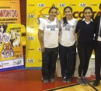 Carolina ( mamá ), Milagros, Ailen  y Carlos Acosta . Organizadores del Torneo .
