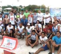 Los participantes del Acuatlón