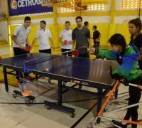 Tenis de mesa en el Encuentro de Liga Adaptada