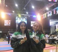Ailen y Milagros Acosta, campeonas mundiales de Taekwondo ITF rumbo a UcraNI