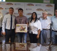 Allende en Lotería Chaqueña con autoridades
