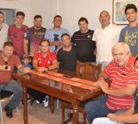 Hugo Wassinger y los árbitros de la ABR