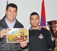 Juan Carlos Arguello con Erik Barrios