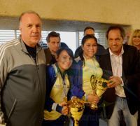 Bittel junto con Héctoe Limardo, Andrés Nieto, Raúl Sabattini y Mabel Roca