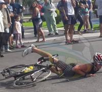 Ignacio Zurlo tuvo una caida fuerte, de la que se repuso para terminar segundo en su categoría.