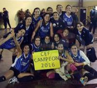 CEF, campeonas en damas mayores de Voleibol
